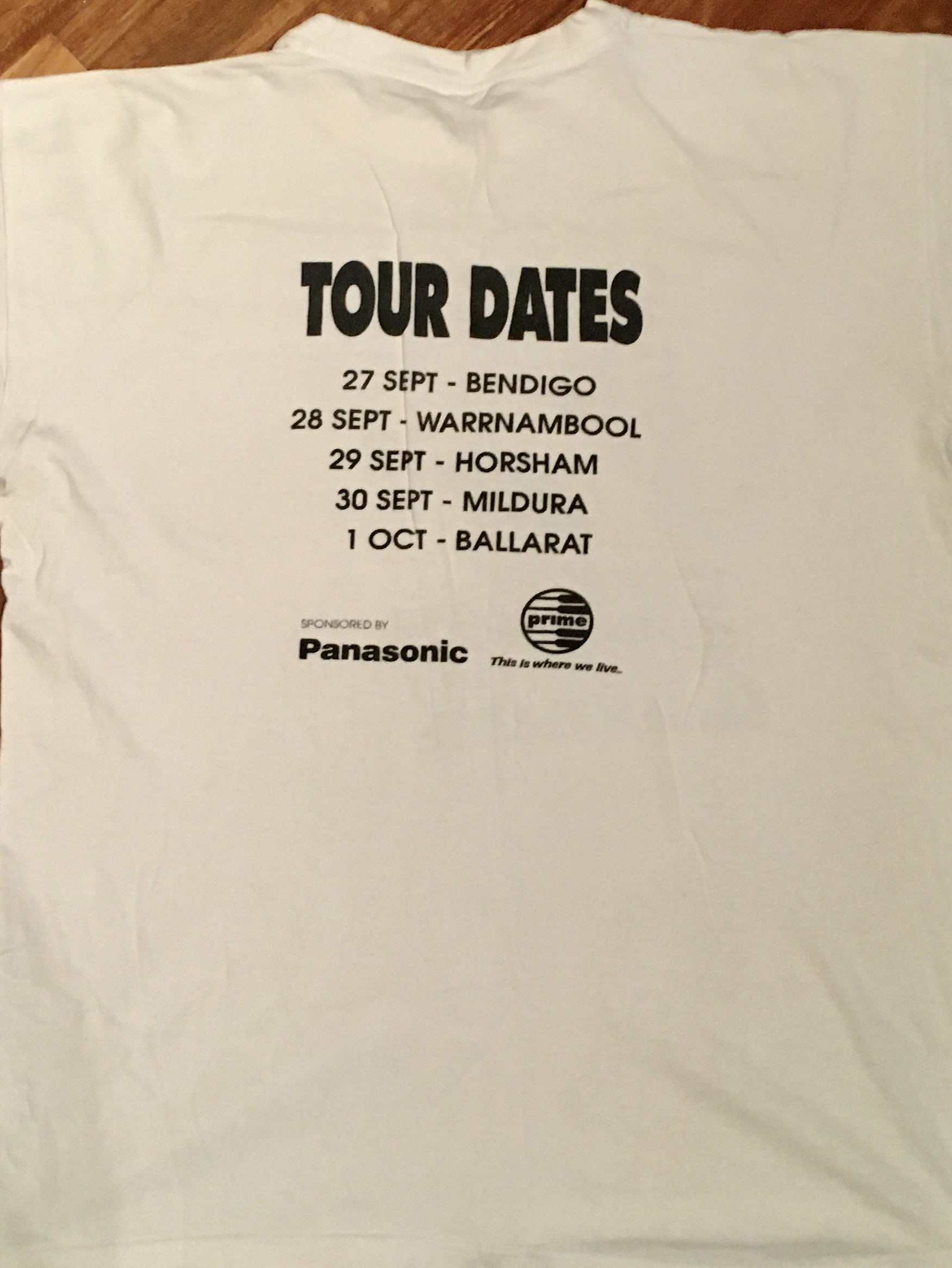 Panasonic Panthers tour T back